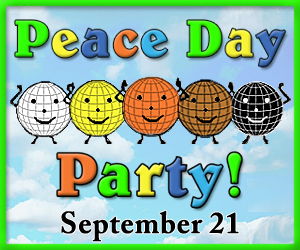 Peace Day Party badge