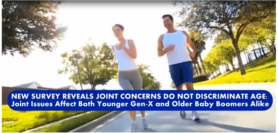 NEW SURVEY REVEALS JOINT CONCERNS DO NOT DISCRIMINATE AGE