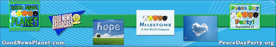 Milestone Broadcasting & Good News Planet banner