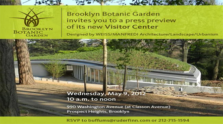 Brooklyn Botanic Garden To Open New Visitor Center In May 2012 Good News Planet Tv