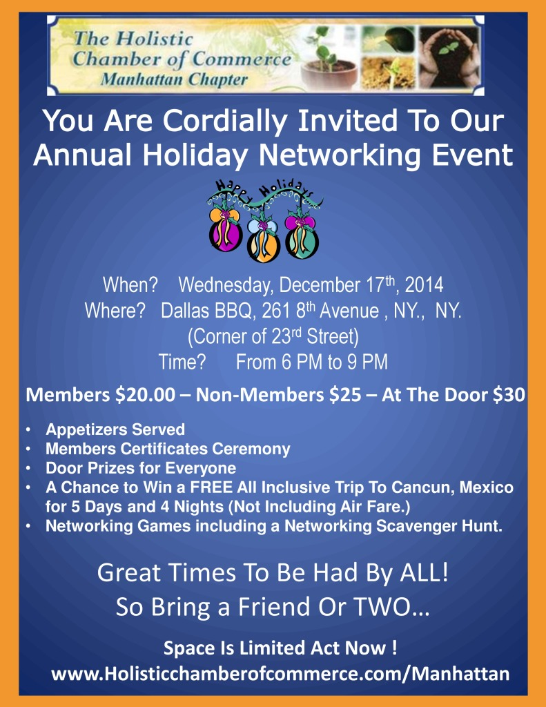 Holistic Chamber of Commerce Annual Holiday Networking Event