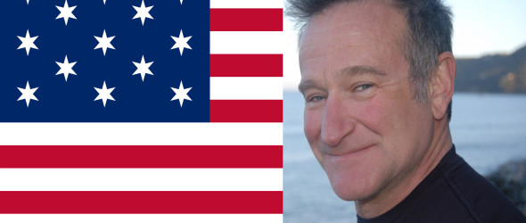 Robin Williams and the America Flag!!!