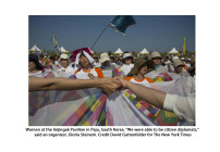 Peace Activists Cross Demilitarized Zone Separating Koreas