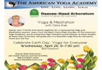 EARTH DAY CELEBRATION! Join Claire for a Yoga & Meditation class in a beautiful garden!