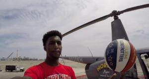 Harlem Globetrotter Makes 210-ft Helicopter Shot in Wildwood, NJ