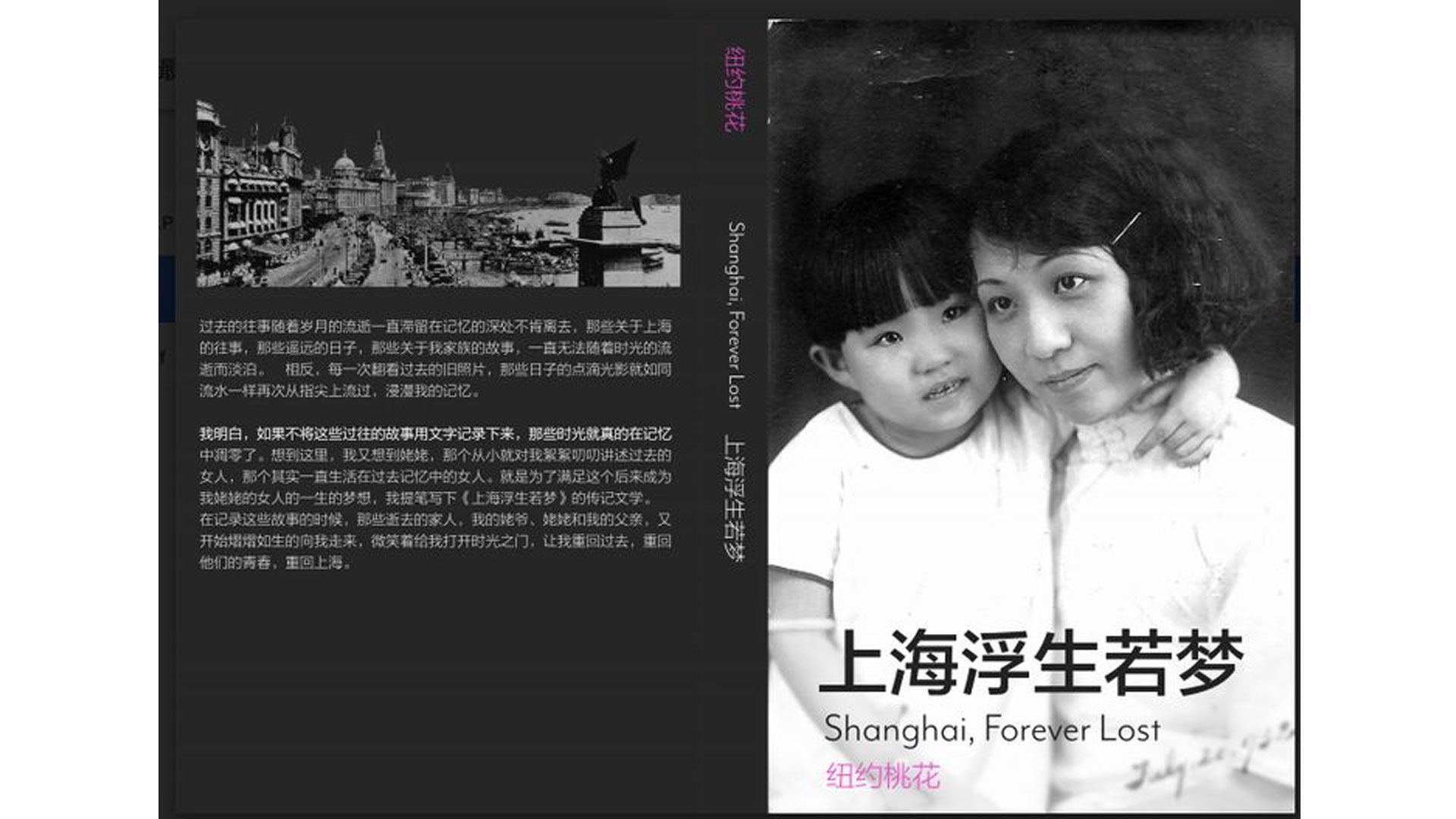 Shanghai, Forever Lost by Sonia Hu, click for videos & podcasts…