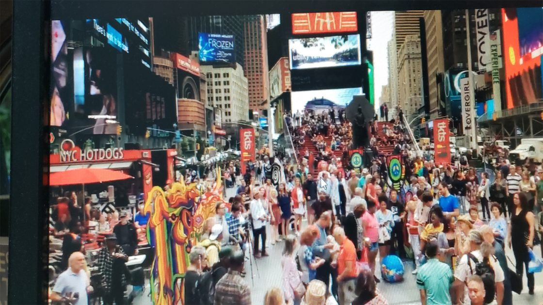 Times Square September 21, 2018 Peace Day Party also go to: www.facebook.com/goodnewsplanet Click Here for Video & Podcast