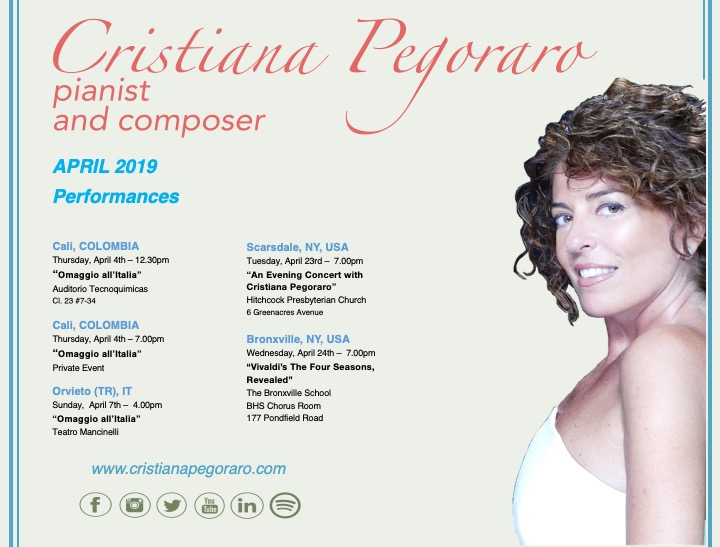 Pianist Cristiana Pegoraro at Carnegie Hall - Upcoming