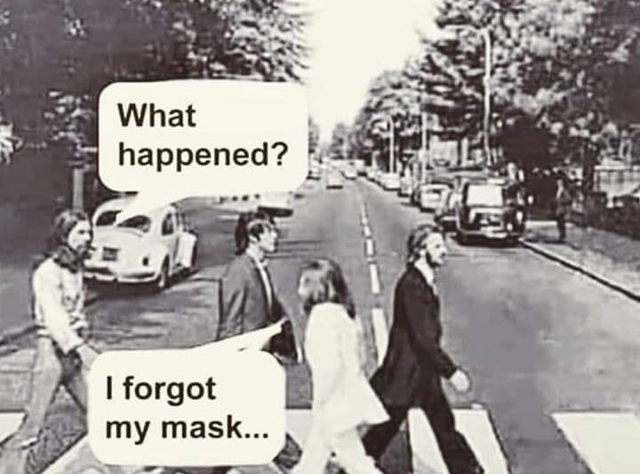 Don't forget your mask