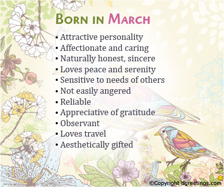 About what month says you birth your What your